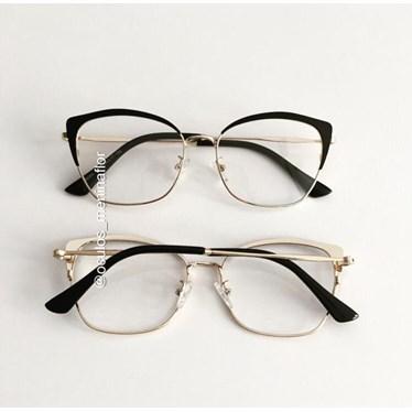 Armação de óculos de grau - Melissa 8060 - Preto com dourado