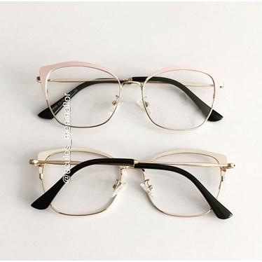Armação de óculos de grau - Melissa 8060 - Rose com dourado