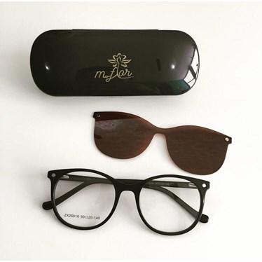 Armação de óculos de grau - Menina Solta 25018 - Preto com lente marrom