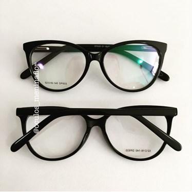 Armação de óculos de grau - MF PUSS - Preto