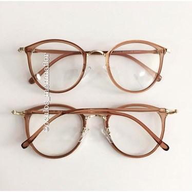 Armação de óculos de grau - Mileni - Dourado transparente