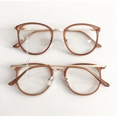 Armação de óculos de grau - Mileni Two - Dourado transparente
