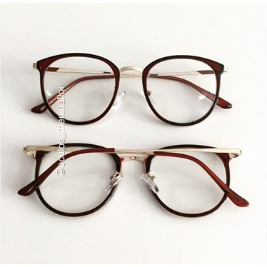 Armação de óculos de grau - Mileni Two - Marrom