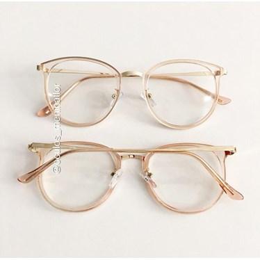 Armação de óculos de grau - Mileni Two - Rose transparência