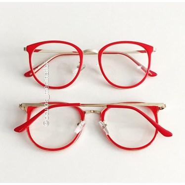 Armação de óculos de grau - Mileni Two - Vermelho