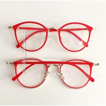 Armação de óculos de grau - Mileni - Vermelho