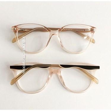 Armação de óculos de grau - Milk - Dourado transparente