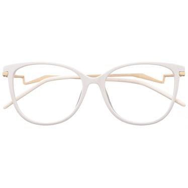 Armação de óculos de grau - Moana - Branco