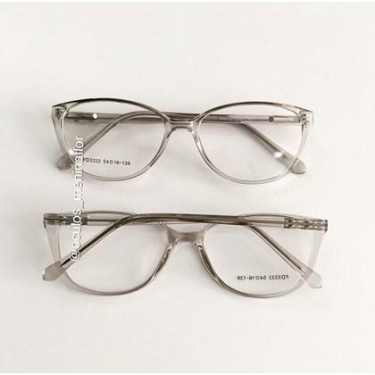 Armação de óculos de grau - Molly 2.0 - Cinza transparência
