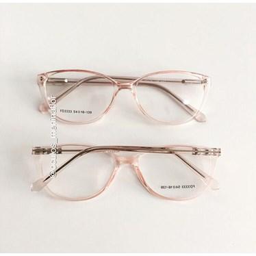 Armação de óculos de grau - Molly 2.0 - Rose  transparência