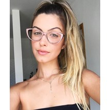 Armação de óculos de grau - Molly - Nude chocolate