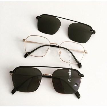 Armação de óculos de grau - Muriel - Dourado