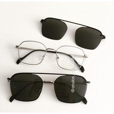 Armação de óculos de grau - Muriel - Prata
