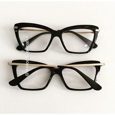 Armação de óculos de grau - Nala - Preto