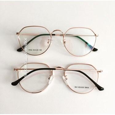 Armação de óculos de grau - Nina - Rose Gold