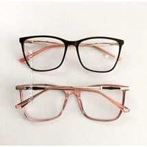 Armação de óculos de grau - Olívia Two - Preto fundo rosa
