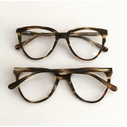 Armação de óculos de grau - Pamela 2181 - Animal print escuro