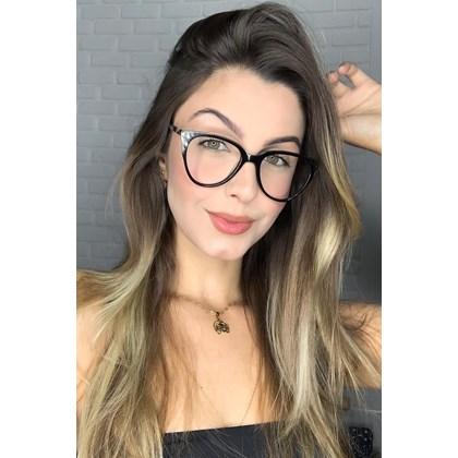 Armação de óculos de grau - Pamela 2181 - Preto