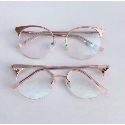 Armação de óculos de grau - Paris 2530 - Rose lente preta C5