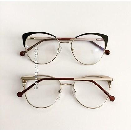 Armação de óculos de grau - Patricinha - Preto com dourado C3