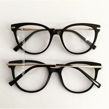 Armação de óculos de grau - Paty - Preto
