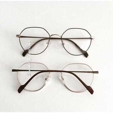 Armação de óculos de grau - Petit  3035 - Marrom com dourado