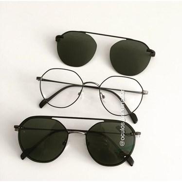 Armação de óculos de grau - Petit - Azul escuro com grafite lente G15 C5