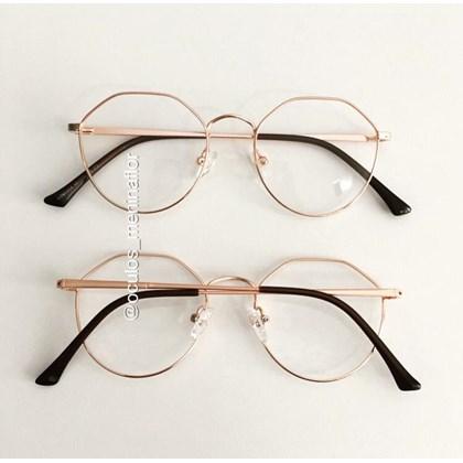Armação de óculos de grau - Petit - Rose Gold