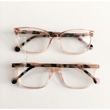 Armação de óculos de grau - Pitty - Dourado transparente