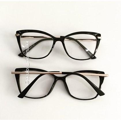 Armação de óculos de grau  - Preciosa - Preto