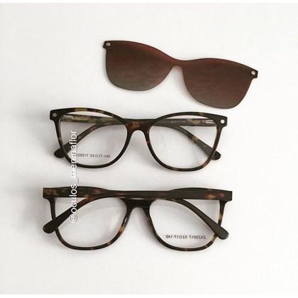 Armação de óculos de grau - Protagonista 25017 - Animal print lente marrom degradê