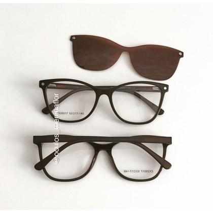 Armação de óculos de grau - Protagonista 25017 - Marrom lente marrom