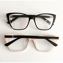 Armação de óculos de grau - Pucci - Preto fundo rosa