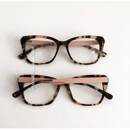 Armação de óculos de grau - Rafah BB2149 - Animal print haste rose