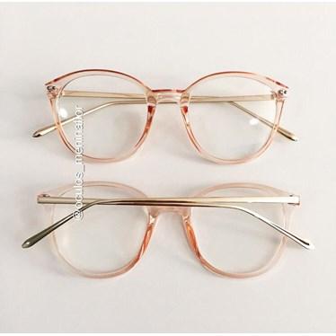 Armação de óculos de grau - RBMF - Rose transparência