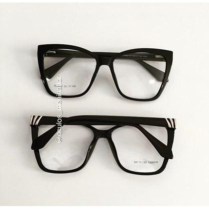 Armação de óculos de grau - Regina 8021 - Preto C1