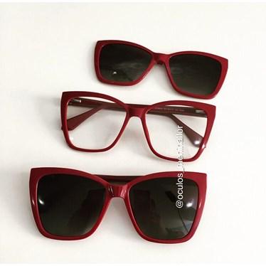 Armação de óculos de grau - Regina 8021 - Vinho C3