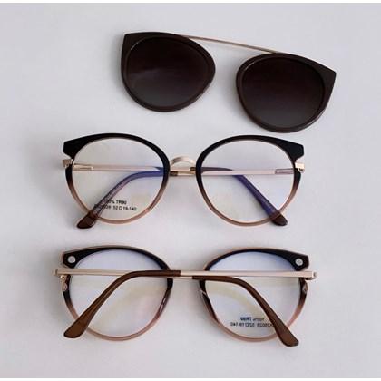 Armação de óculos de grau - Roberta 25028 - Marrom transparência C4
