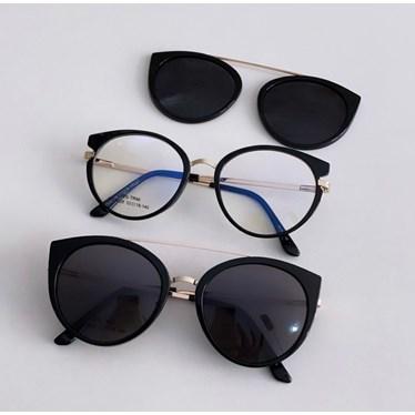 Armação de óculos de grau - Roberta 25028 - Preto