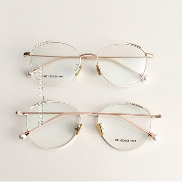 Armação de óculos de grau - Round Athenas - Creme