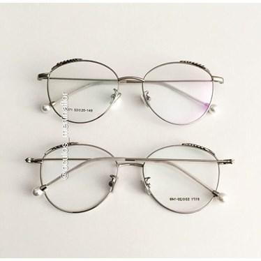 Armação de óculos de grau - Round Athenas - Prata