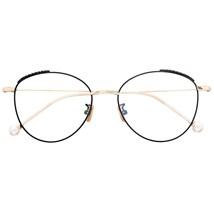 Armação de óculos de grau - Round Athenas - Preto com dourado