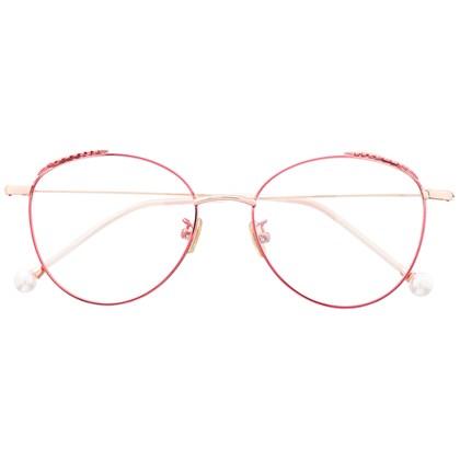 Armação de óculos de grau - Round Athenas - Rosa