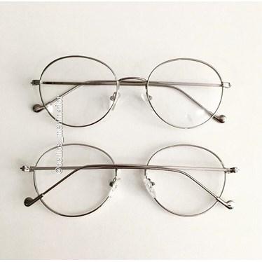 Armação de óculos de grau - Round Beatles - Prata
