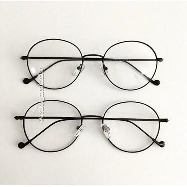 Armação de óculos de grau - Round Beatles - Preto