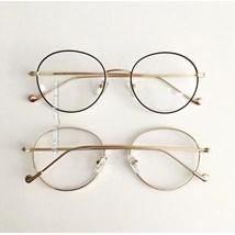 Armação de óculos de grau - Round Beatles - Preto com dourado