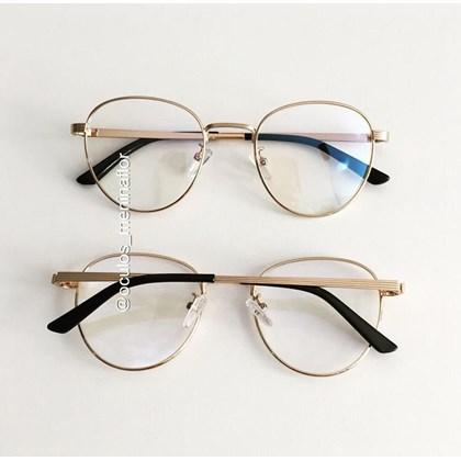 Armação de óculos de grau -  Round Jujuh 9705 - Dourado