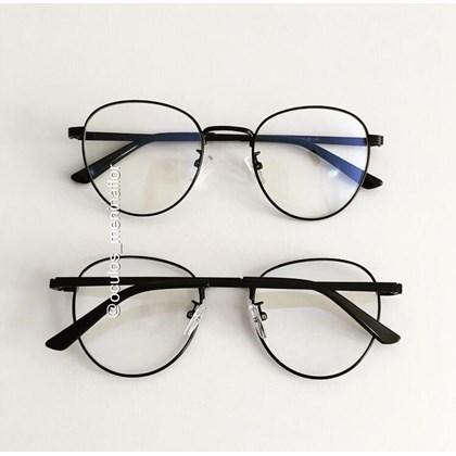 Armação de óculos de grau -  Round Jujuh 9705 - Preto