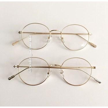 Armação de óculos de grau - Round Piccolo - Dourado