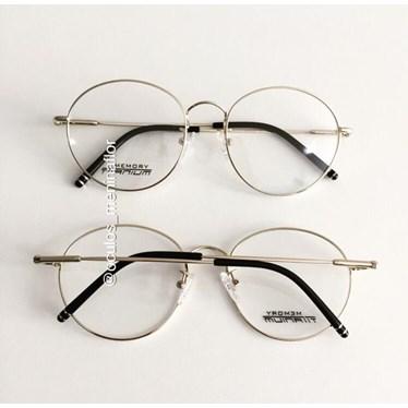 Armação de óculos de grau - Round Titanium - Dourado